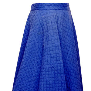 Dresses & Skirts - Vintage Quilted Blue Circle Skirt